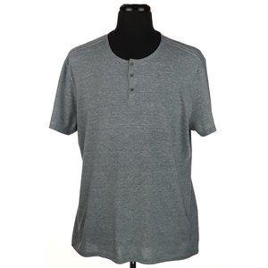 John Varvatos Short Sleeve Crew Henley T Shirt XL